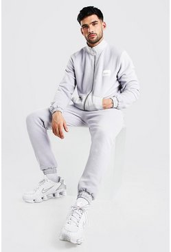 Grey Polar Fleece Tracksuit With MAN Tab