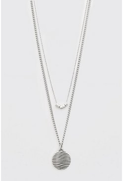 Silver Double Layered Pendant Chain