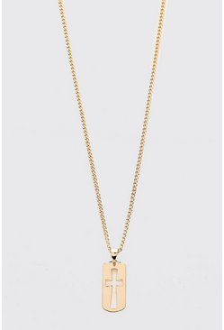 Gold metallic Cross Pendant Chain