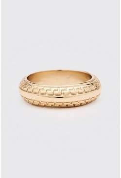 Gold Tribal Effect Ring