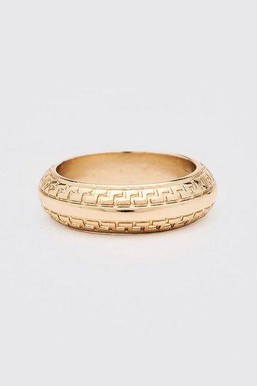 Gold metallic Tribal Effect Ring
