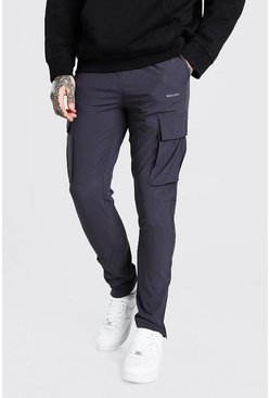 Charcoal Tapered Cargo Jogger