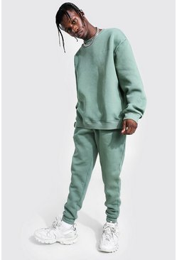 Sage green Overdyed Official MAN Sweater Tracksuit