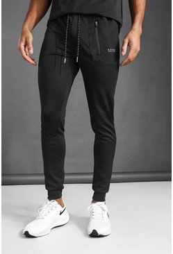 Black MAN Active Contrast Pocket Jogger