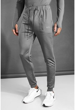 Charcoal grey MAN Active Contrast Pocket Jogger
