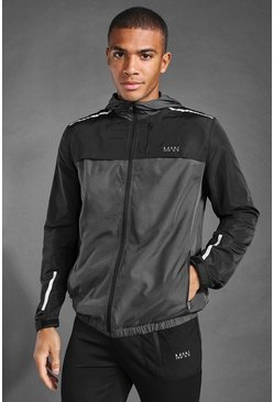 Anorak color block - MAN Active, Noir