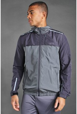 Anorak color block - MAN Active, Anthracite : gris