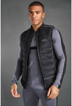 Black MAN Active Puffer Gilet