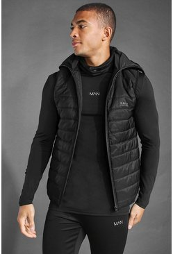 Black MAN Active Snood Puffer Gilet