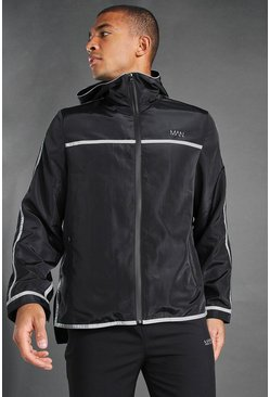 Black MAN Active Reflective Detail Cagoule