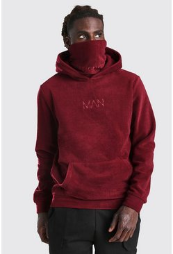 Burgundy red MAN Official Snood In Polar Fleece