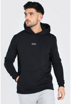 Black Original MAN Heavyweight Over The Head Hoodie