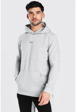 Grey marl grey Original MAN Heavyweight Over The Head Hoodie