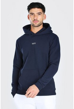 Navy Original MAN Heavyweight Over The Head Hoodie