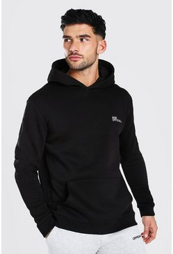Black MAN Official Heavyweight Over The Head Hoodie