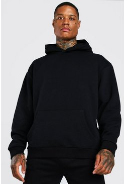 Black Oversized Heavyweight Over The Head Hoodie