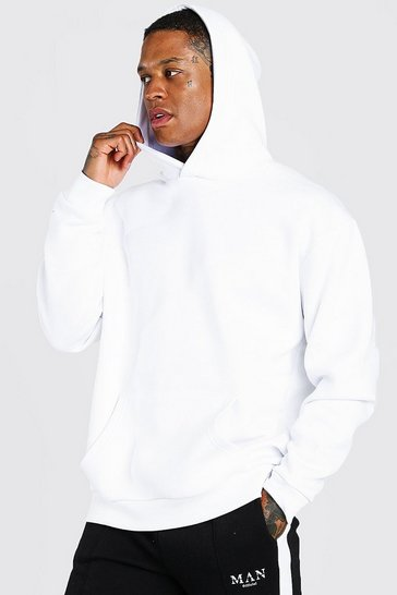 White Oversized Heavyweight Over The Head Hoodie