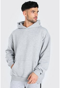 Oversized Original MAN Heavyweight Hoodie, Grey marl gris