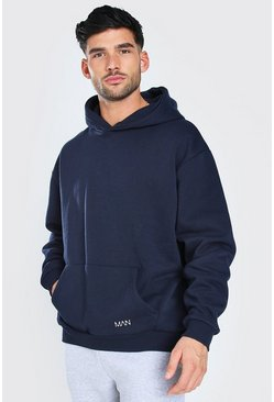 Navy Oversized Original MAN Heavyweight Hoodie