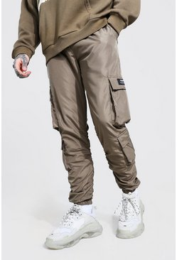 Khaki Official Man Ripstop Ruched Detail Cargo Pants