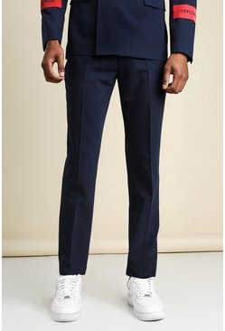 Navy Official Man Gestreepte Skinny Fit Pantalons