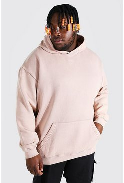 Schors brown Plus Baggy Man Overdye Hoodie