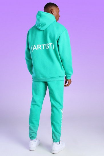 Green Oversized Official Artist Print Hoodie