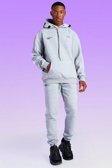 Grey marl grey Skinny Fit MAN Bungee Cord Jogger