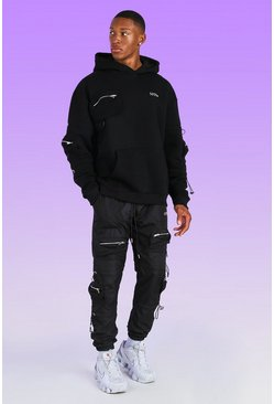 Oversized MAN Cargo Tracksuit With Bungee Cord