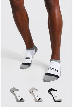 Multi 3 Pack MAN Dash Activewear Trainer Socks