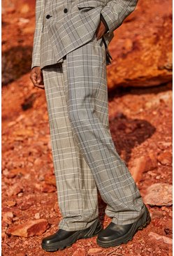Grey Check Official Utility Relaxed Pants