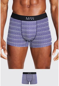 Black MAN Fairisle Gift Box Boxers