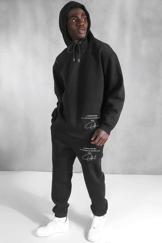 New Custom noir zippé à capuche Sweat à capuche brodé BMW Logo Tailles S-4X