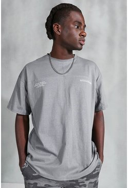 Charcoal grey Official Utility T-Shirt Oversized With Buckle