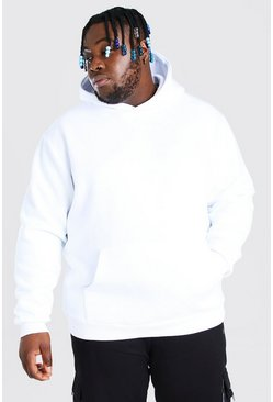 White Plus Size Heavyweight Over The Head Hoodie