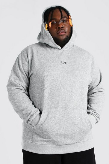 Grey marl grey Plus Size MAN Dash Heavyweight Hoodie