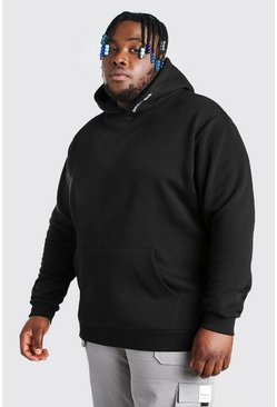 Black Plus Size MAN Official Heavyweight Hoodie