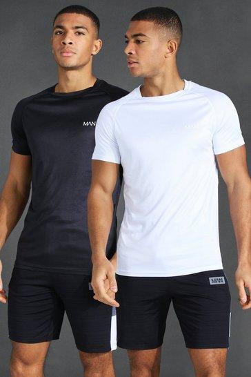 Multi MAN Active 2 Pack Raglan T-Shirt