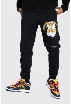 Black Man Official Leg Print Jogger