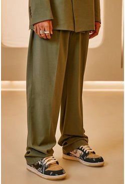 Sage green Relaxed Suit Trouser