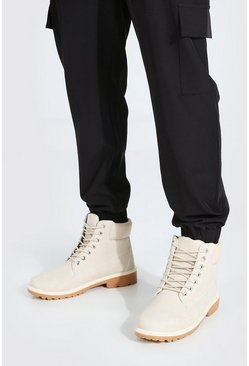Ecru white Worker Boots