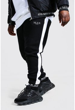 Black Plus Size MAN Skinny Jogger With Cuff