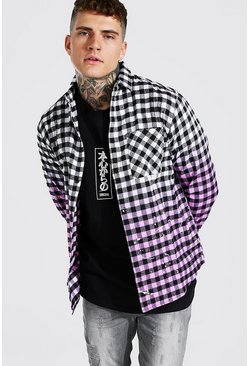 Pink Rose Ombre Checked Shirt