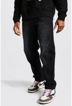 Relaxed Fit Rigid Jean, Washed black