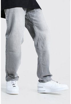 Relaxed Fit Rigid Jean, Mid grey gris