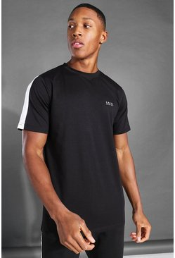 Black MAN Active Side Stripe T Shirt