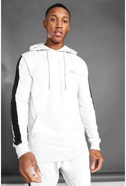 Ash grey MAN Active Side Stripe Over The Head Hoodie