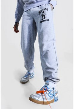 Grey marl Loose Fit Death Row License Jogger