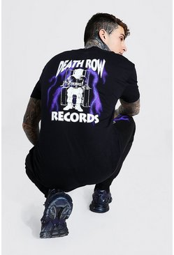 Black Oversized Death Row Lightening License T-Shirt