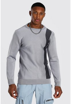 Pull rayé, Light grey gris